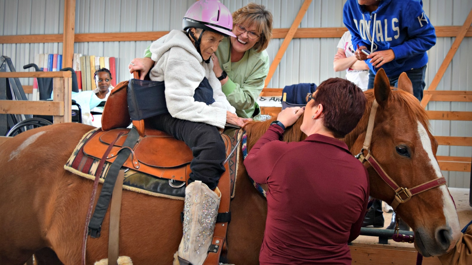 horseback riding hospice patient