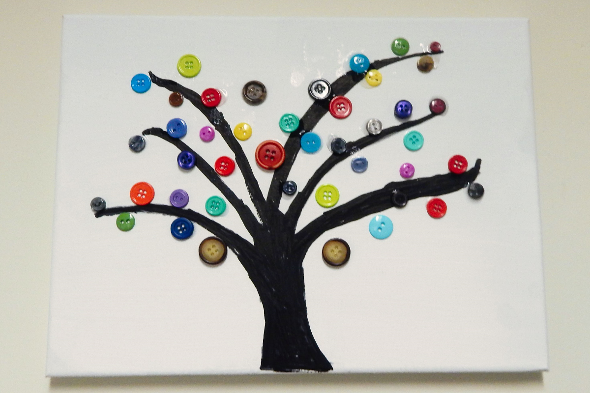 Button Tree Canvas Activities For Dementia Patients